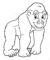 coloring page of gorilla cute gorilla coloring pages new gorilla coloring page stock
