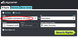 how to find the absolute cheapest flights using skyscanner step