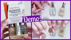 sally hansen diamond strength french manicure pen kit demo u0026 first