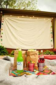 backyard movie screen home outdoor decoration