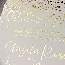 gold foil wedding invitations amazing beautiful gold foil confetti wedding invitation