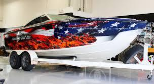 Custom Car Flag American Flag Vinyl Boat Wrap Zilla Wraps