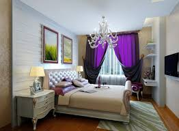 White And Purple Curtains Bedroom Purple Drape And White Sheer Curtain For Master Bedroom