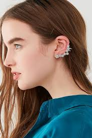 ear cuff images floral rhinestone ear cuff outfitters