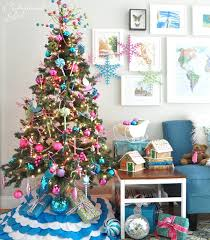 colored tree ornament theme and
