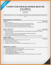 Programmer Resume Example by Home Design Ideas Related Post Of Resume Examples Programmer