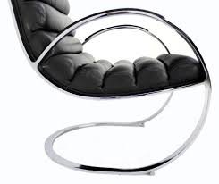 Black Chair And Ottoman by Chrome And Leather Mid Century Modern Lounge Chair And Ottoman For