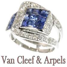 eclectic lion ring holder images Van cleef arpels art deco sapphire diamond invisibly set mystery jpg