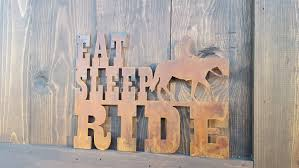 eat sleep ride horse decor rustic farmhouse style decor country