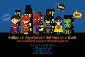 free superhero birthday invitations templates