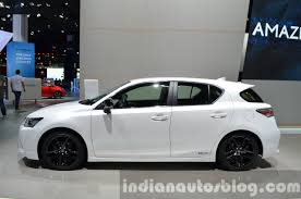 lexus ct200 2016 lexus ct200h sport editions side at the iaa 2015 indian autos blog