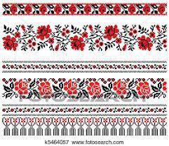 ukrainian ornaments clip of ukrainian embroidery ornament k5464057 search