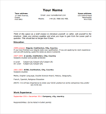 Sample Functional Resume Pdf by Sample Resume Template For Students In University 9 Free