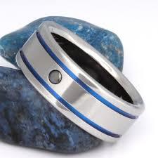black and blue wedding rings black diamond titanium wedding ring bd10 titanium rings studio
