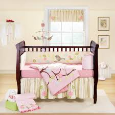 White Nursery Bedding Sets by Bedroom Simple Wooden Crib Decorate With Pink Floral Baby
