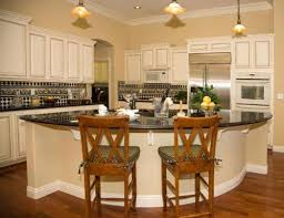 rounded kitchen island seated island