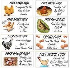 egg box labels ebay