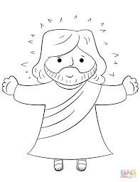 jesus on the cross coloring page eson me