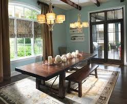 dining room dark wood dining table with thanksgiving dinner decor dark wood dining table with thanksgiving dinner decor and wood bench for traditional dining room design with chandeliers and roman blinds plus dark wood