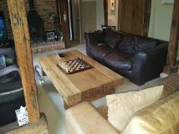 rustic oak coffee table abacus tables