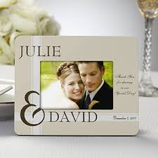 personalized picture frame wedding favors to you