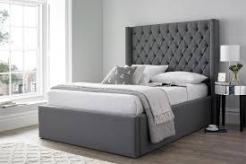High Headboard Bed Helmsley Winged Ottoman Bed Beds On Legs