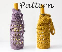 wine bottle gift bags wine tote crochet pattern wine bottle gift bag pdf crochet