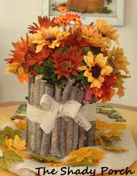 Rustic Center Pieces The Shady Porch Rustic Fall Centerpiece