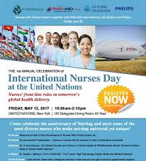 nurses on international nurses day at the united nations may 12 2017