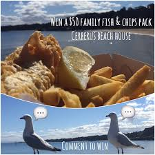 cerberus beach house fish u0026 chip giveaway the bayside mailer