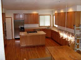 kitchens with hardwood floors and wood cabinets kitchen decoration