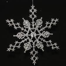 6 5 silver glitter snowflake wedding decorations 6 pc