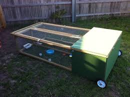 Rabbit And Guinea Pig Hutches Rabbit Hutch On Wheels This Hutch Is Split Down The Middle Has