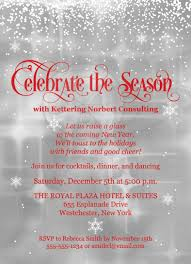 celebrate the season holiday party invitation red gray white