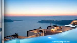 majestic hotel overlooking the fabulous santorini caldera hd