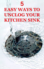 easy way to unclog a kitchen sink easy ways to unclog your kitchen sink