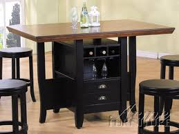 5 piece heritage hill counter height kitchen island set in multi