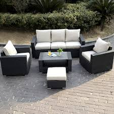 Patio Furniture Set by 7 Pcs Wicker Rattan Sofa Cushioned Set Outdoor Furniture Sets