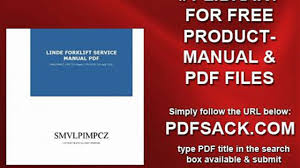 linde forklift service manual pdf video dailymotion