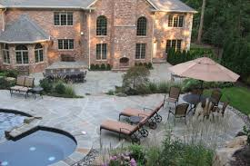 Natural Stone Patio  Wall Design For Pools  Landscaping NJ - Patio wall design