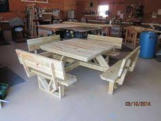 Free Large Octagon Picnic Table Plans Easy Woodworking Solutions by Rustic Picnic Table Rustic Lodge Log And Timber Furniture