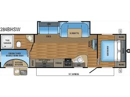 2 Bedroom Travel Trailer Floor Plans 2018 Jayco Jay Flight Slx 284bhsw 2 Bedroom Sofa U Dinette Slideou