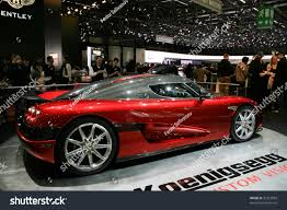 koenigsegg switzerland geneva march 7 koenigsegg racing car stock photo 32381869