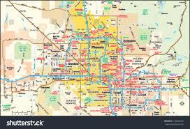 Phoenix Zip Code Map by Phoenix Arizona Area Map Stock Vector 138845339 Shutterstock