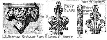 english gothic ornament u2014 brackets and poppy heads drawn by