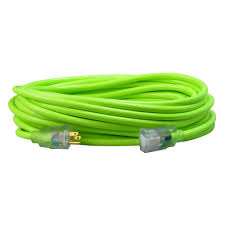 southwire 25 ft 12 3 sjtw neon green extension cord 2577sw000x