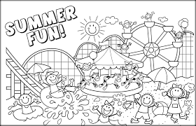 easy to paint summer coloring pages for kids color zini