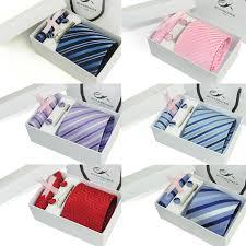 tie box gift neck tie set mens gift hanky cufflinks mens tie 2017 striped gift