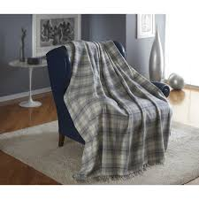 tartan throw cashmere blend with fringes fashion colours