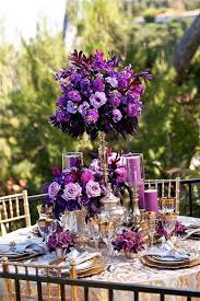 purple wedding centerpieces purple and gold centerpieces for weddings